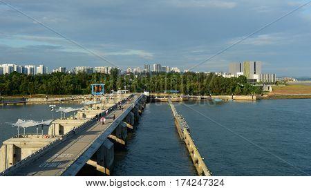 Marina Barrage In Singapore