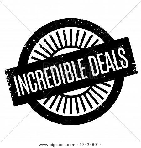 Incredible Deals rubber stamp. Grunge design with dust scratches. Effects can be easily removed for a clean, crisp look. Color is easily changed.