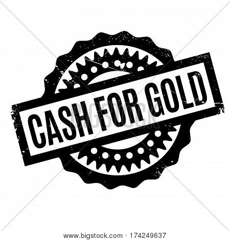 Cash For Gold rubber stamp. Grunge design with dust scratches. Effects can be easily removed for a clean, crisp look. Color is easily changed.