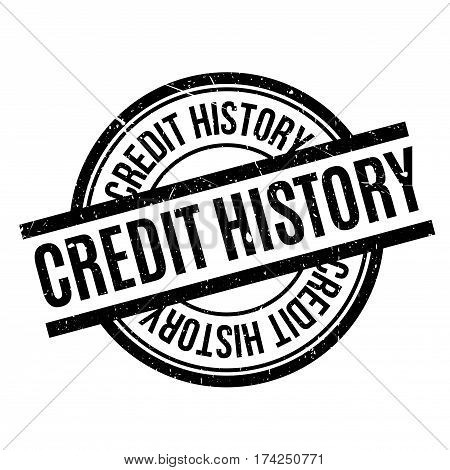 Credit History rubber stamp. Grunge design with dust scratches. Effects can be easily removed for a clean, crisp look. Color is easily changed.