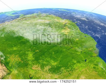 Amazon Rainforest On Planet Earth