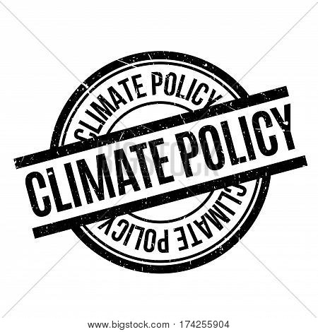 Climate Policy rubber stamp. Grunge design with dust scratches. Effects can be easily removed for a clean, crisp look. Color is easily changed.