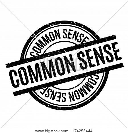 Common Sense rubber stamp. Grunge design with dust scratches. Effects can be easily removed for a clean, crisp look. Color is easily changed.