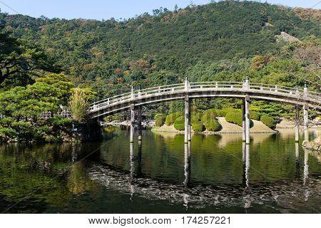 Traditional Kokoen Garden in Himeji