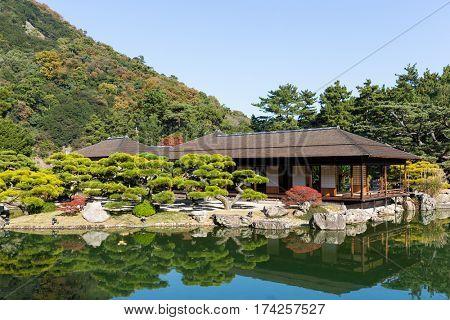 Kokoen Garden in Himeji of Japan