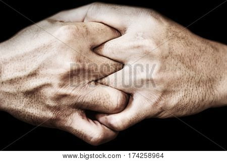 Hand Of Man Join Together, Adherence Concept