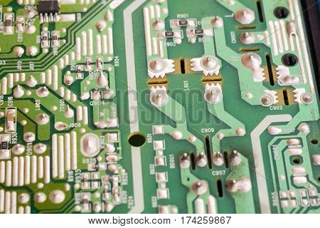 Green Circuit Board Macro