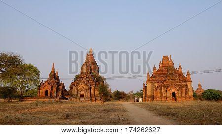 Buddhist Temples In Bagan, Myanmar