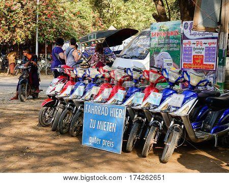 E-bikes For Rent In Bagan, Myanmar
