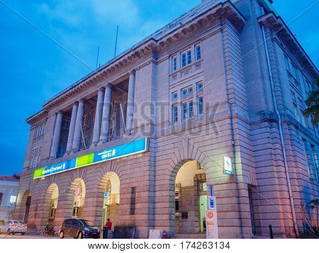 Penang, Malaysia - January 22, 2017: Standard Chartered bank Office. Standard Chartered PLC is a British multinational banking and financial services company headquartered in London.