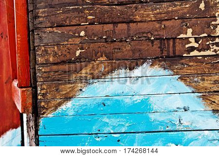 Wall, wooden wall with abstract pattern. A wooden wall. Abstraction.Childlike abstraction.