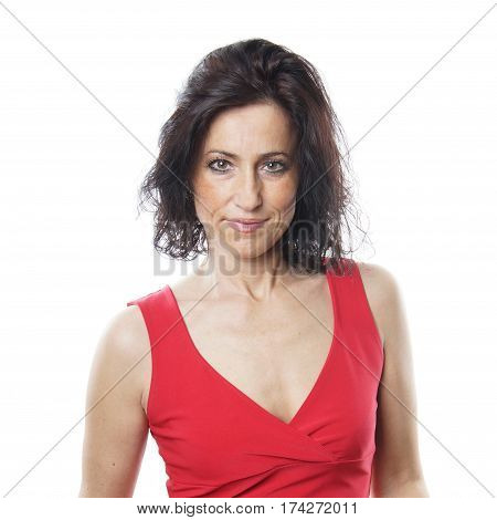 portrait of a spanish woman in her forties