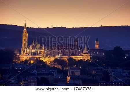 View of the Fishermen's Bastion in Budapest