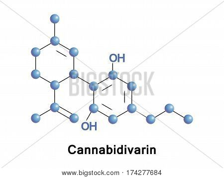 Cannabidivarin non-psychoactive cannabinoid found in Cannabis. It is a homolog of cannabidiol, with the side-chain shortened by two methylene bridges