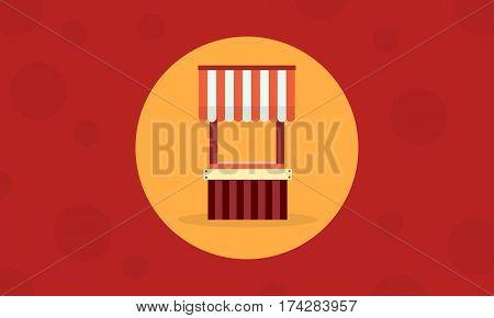 Street stall collection stock vector art illustration