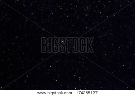 space, skyscape and astronomy - stars in night sky
