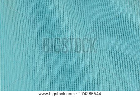 close up of blue spandex fabric texture and background