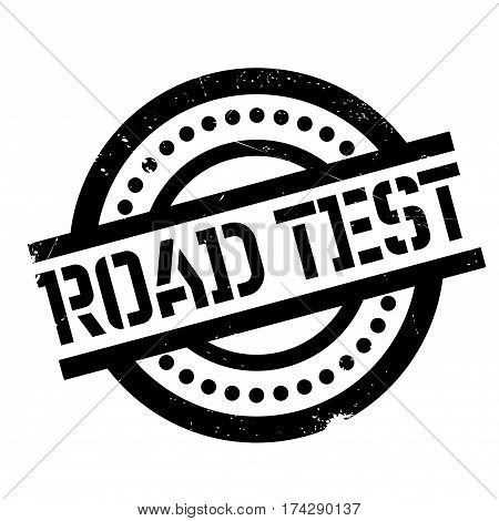Road Test rubber stamp. Grunge design with dust scratches. Effects can be easily removed for a clean, crisp look. Color is easily changed.