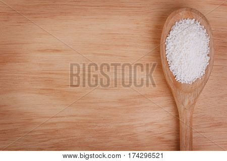 Granulated Cassava (tapioca) On Wooden Background