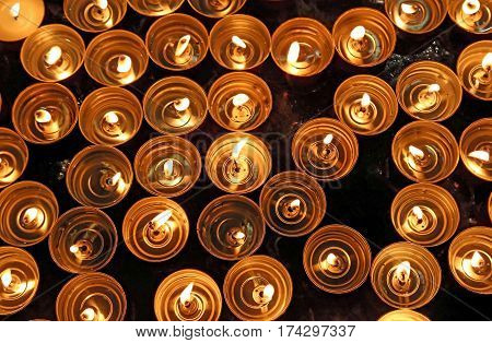 Candles Lit With The Warm Flame