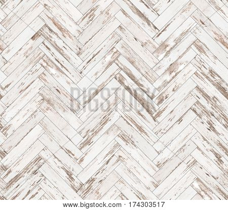 Herringbone old painted parquet seamless floor texture background