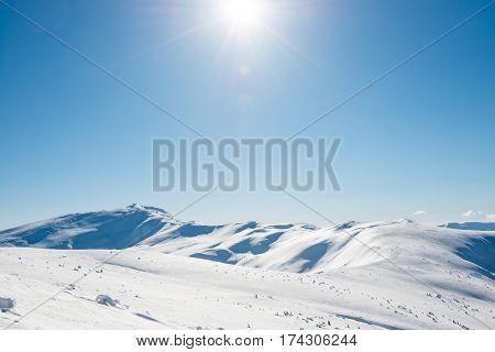 White Winter Mountains
