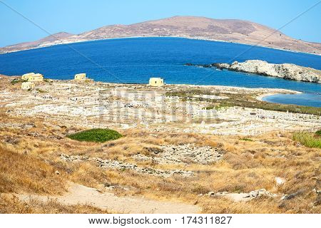 Famous   In Delos Greece The Historycal Acropolis And Old Ruin Site