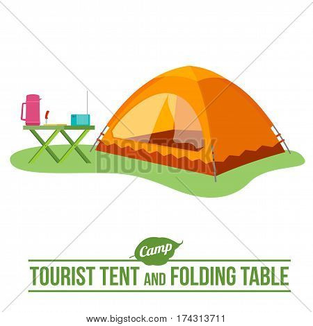 Camping Vector Flat Icon