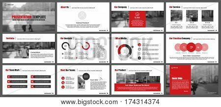 Red elements for infographics on a white background. Presentation templates. Use in presentation, flyer and leaflet, corporate report, marketing, advertising, annual report, banner.