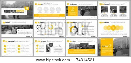 Yellow elements for infographics on a white background. Presentation templates. Use in presentation, flyer and leaflet, corporate report, marketing, advertising, annual report, banner.