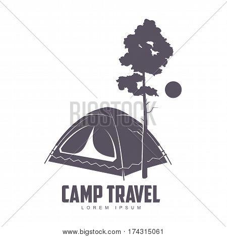 Camping Vector Logo Template