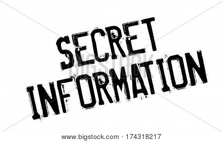Secret Information rubber stamp. Grunge design with dust scratches. Effects can be easily removed for a clean, crisp look. Color is easily changed.