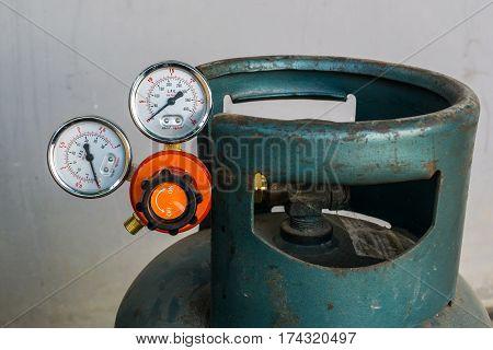 Gas pressure regulator with manometer, welding, equipment