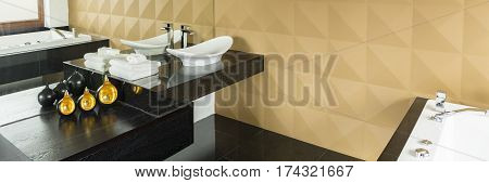 Bathroom With Beige Wall
