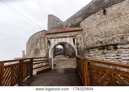 Old medieval citadel in the midle of Transylvania,Deva,Romania