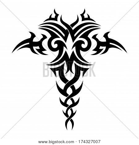 Tribal drawing for tattoo and design things.