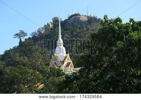 Temple at the monkey mountain near Hua hin Thailand