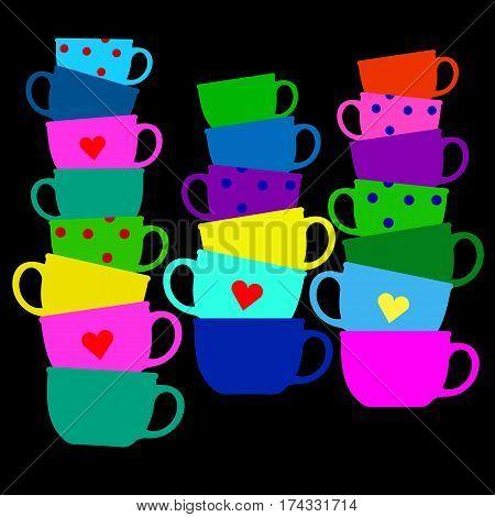 mug coffee cup icon espresso cafe drink cappuccino tea hot black
