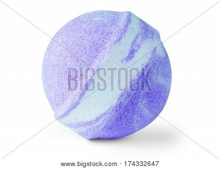 Single bath bomb isolated on the white