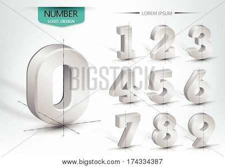 Realistic Three Dimensional Set Of Number
