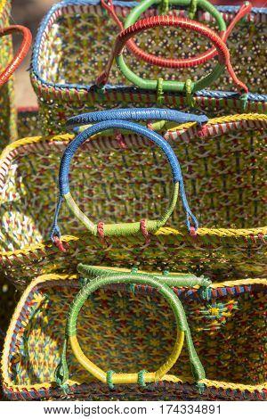 India Basket Closeup