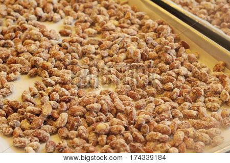 Seed almond sugar coating is a delicious