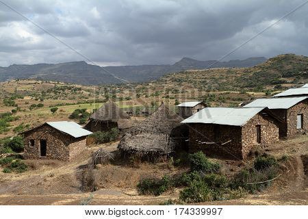 A historic Village of Ethiopia in Africa