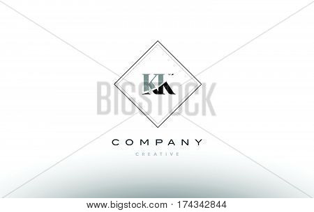 Kk K K  Retro Vintage Black White Alphabet Letter Logo