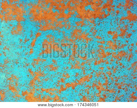Old grunge metal plate with rust spots