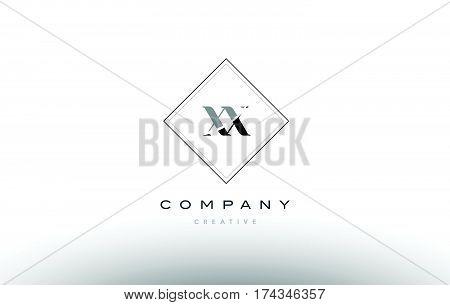 Xx X X  Retro Vintage Black White Alphabet Letter Logo