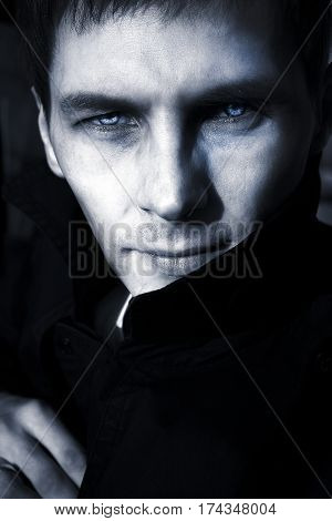 Russian guy, model, vampire, Russian, sight, blood, eye, doubt, anger