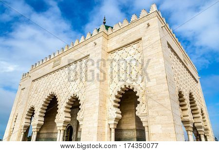 The Mausoleum of Mohammed V, a historical building in