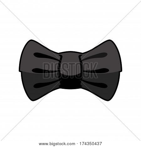 Black Bow Tie Isolated. Fashion Accessory At Ceremony And Official Event