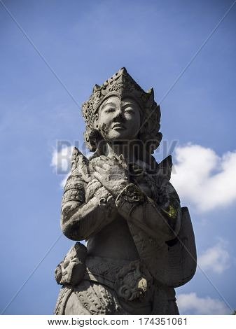 Amazing fine detailed stone sculpture in Indonesia